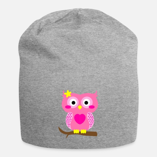 Flight Caps & Hats - Owl Branch Nocturnal Bird Flight Flock Animal Gift - Beanie heather grey