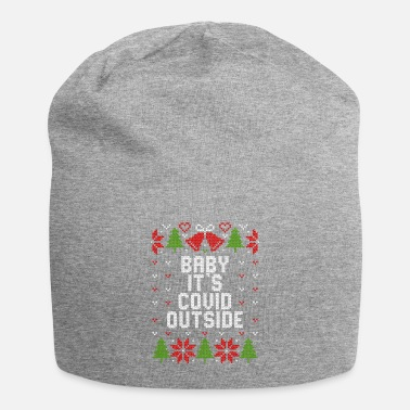 Covid Ugly Christmas Baby It's Covid Outside - Beanie