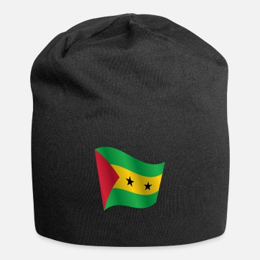 Sao Tome And Principe Waving Flag of Sao Tome and Principe - Beanie