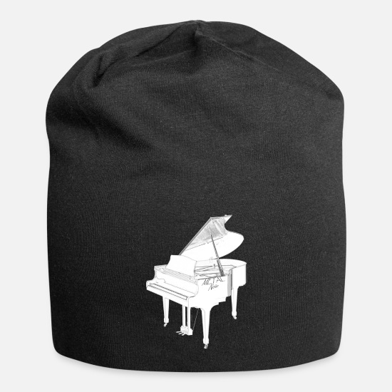 Piano Caps & Hats - piano keyboard - Beanie black