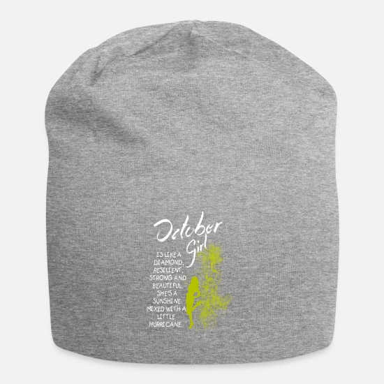 Sign Caps & Hats - October Girl - Beanie heather grey