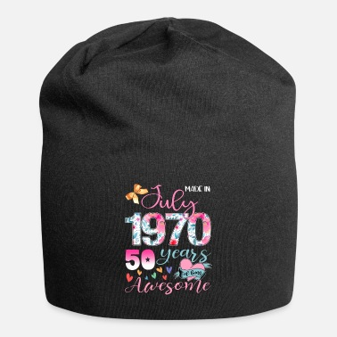 July Made In July 1970 50 Years Of Being Awesome - Beanie
