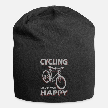 Cycling Cycling makes cycling happy - Beanie