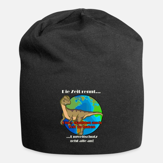 Enviromental Caps & Hats - Climate protection affects everyone - Beanie black