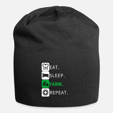 Eat Eat Sleep Farm Repeat Farmer Farming Funny - Beanie