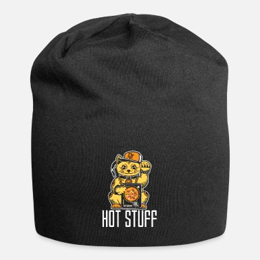 Cop Hot stuff cat DJ job Funny cat - Beanie