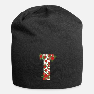 Initial Rose Letter T Initial Flower Style Design Cool Gif - Beanie