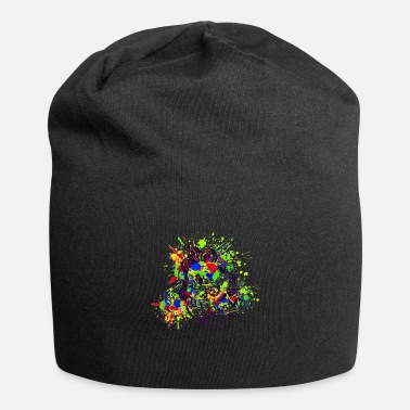 Colour Splash Skull Design (Colour Splash) 03 - Beanie