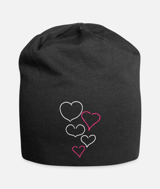 Corazon Caps & Mützen - Couple of Hearts - Beanie Schwarz
