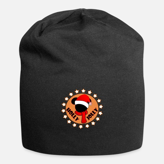 Love Caps & Hats - HOLLY JOLLY - Beanie black