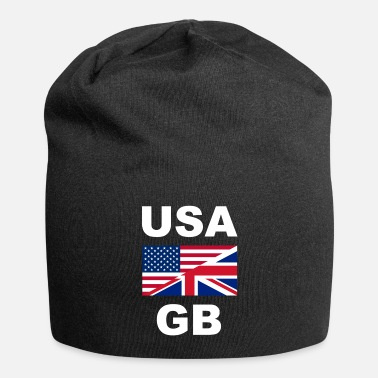 Gb United States GB Graet Britain one Flag Flage in common - Beanie