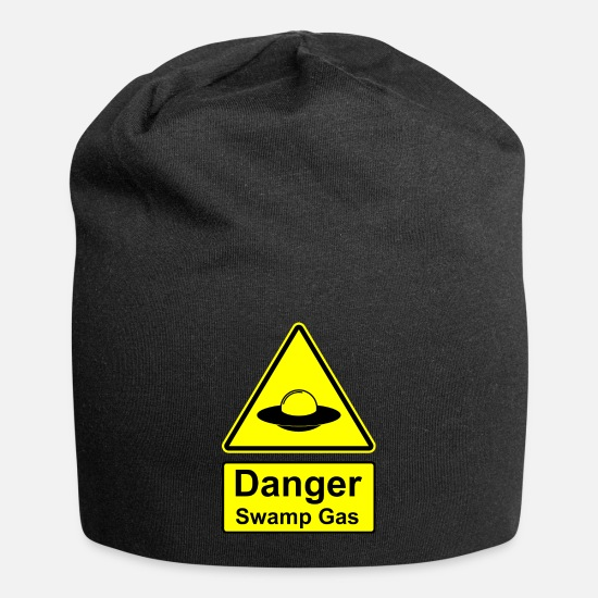 Invasion Caps & Hats - Danger Swamp Gas Sign Shield - Beanie black