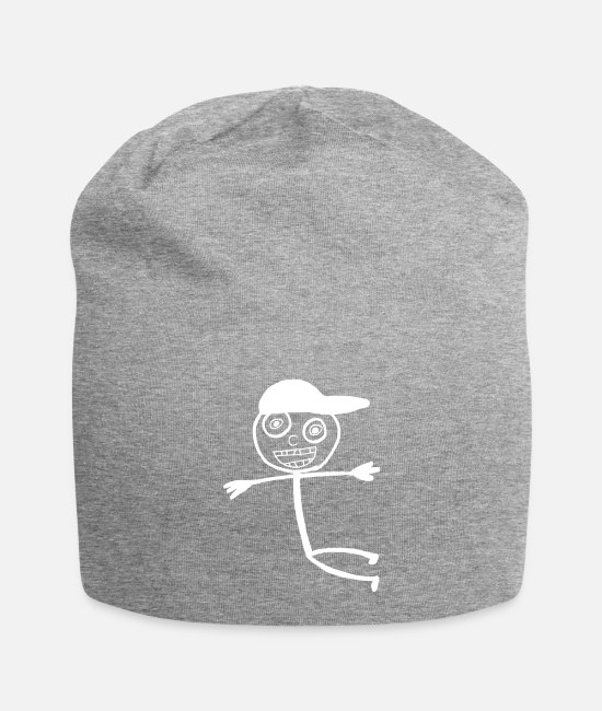 Doodle Caps & Hats - Kid In A Cap - White - Beanie heather grey