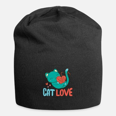 Chat chat amour tricot coeur - Beanie