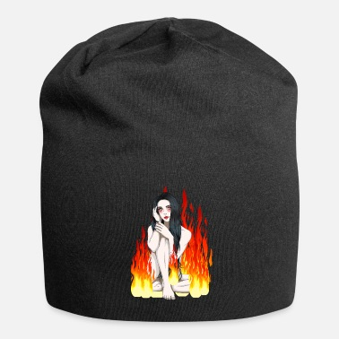 Undead Witch witches flames flame fire demon halloween - Beanie