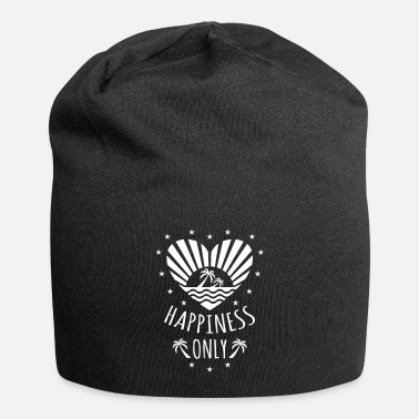 132 Happiness Only Heart Sun Palms - Beanie