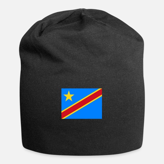 Stylish Caps & Hats - Flag of Congo, Democratic Republic of the Cd - Beanie black
