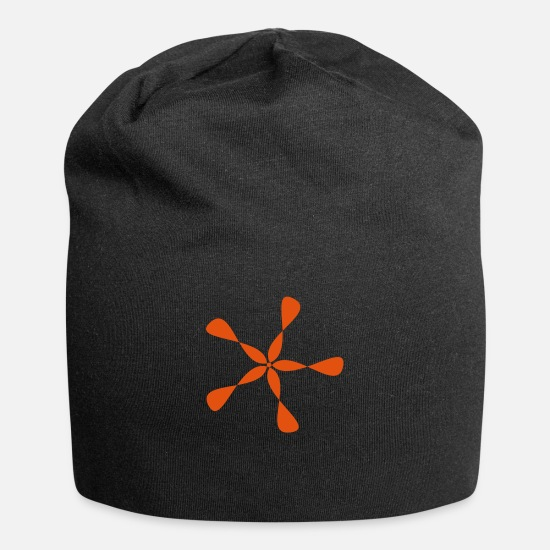 Gift Idea Caps & Hats - Choose your own color. Abstract star wheel gift - Beanie black
