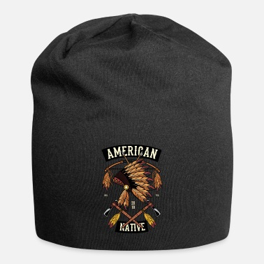 American Indian Native American Indian T-Shirt - Beanie