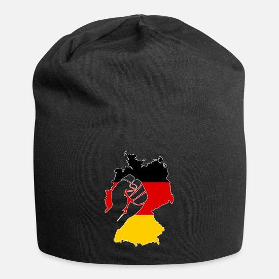 Patriot Caps & Hats - Germany FRG flag Federal Republic gift Ger - Beanie black