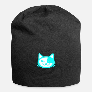 Meow Cat hangover face cute gift cat face - Beanie