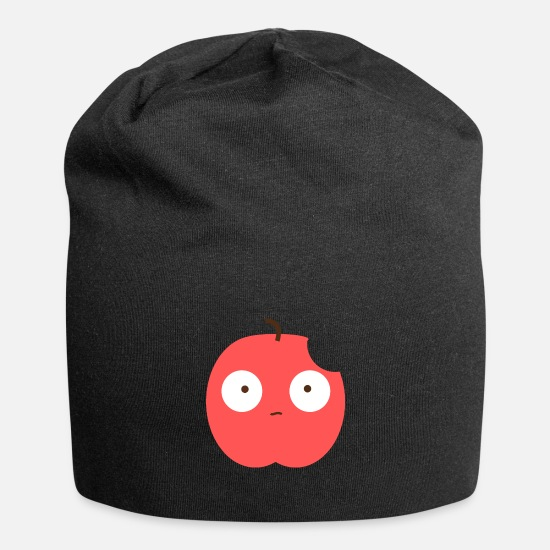 Gift Idea Caps & Hats - Scared apple - Beanie black