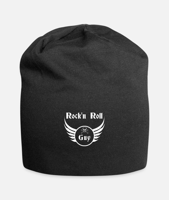 Message Caps & Hats - Rock and roll guy - Beanie black