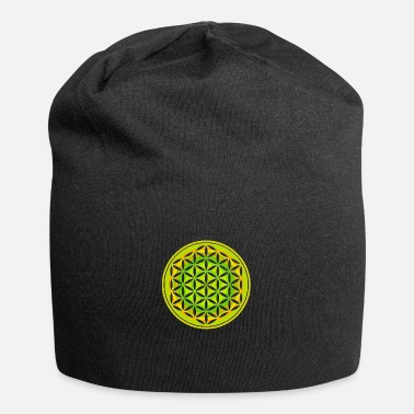 Atlantis flower_of_life_punched_olivine_peach - Beanie