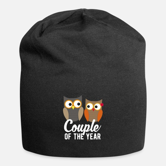 Lovely Caps & Hats - Partnerlook Couple Shirt Couple of the Year - Beanie black