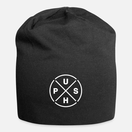 Squat Caps & Hats - Push Pull Day - Beanie black