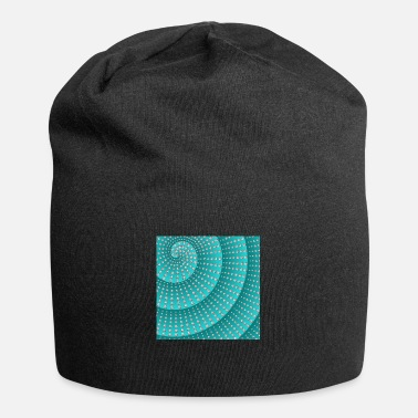 Ellenicoart Spiral with diamonds - blue/green - Beanie