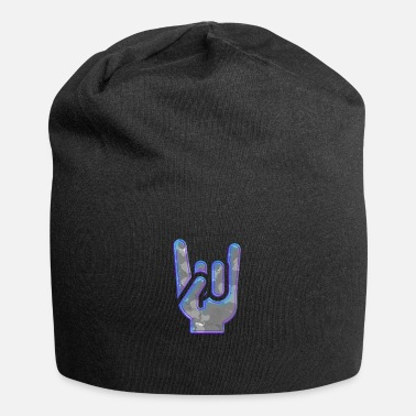 Rock 'n' Roll Rock Hand Gesture Nightclub Blue Cool Salute - Beanie