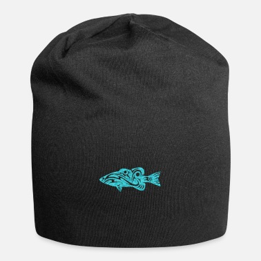 Tribal Maori Fish Polynesian Tribal Tattoo -lahja - Beanie-pipo