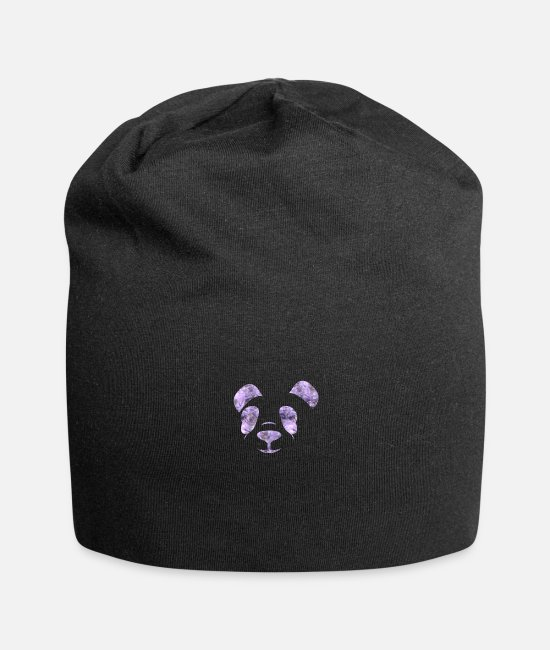 Design Caps & Hats - panda - Beanie black