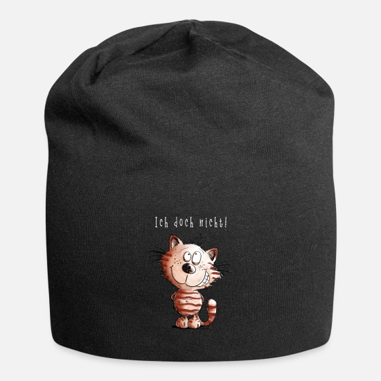 Innocence Caps & Hats - I do not cat I cat motif comic gift - Beanie black