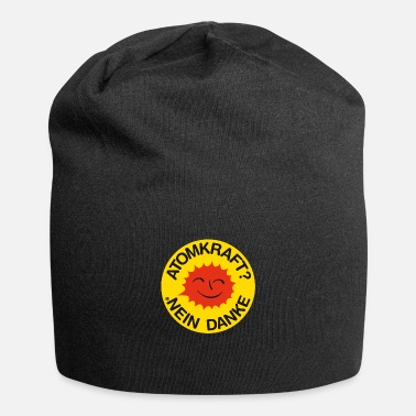 Atomic Energy Nuclear power? No thank you! Logo smiling sun - Beanie