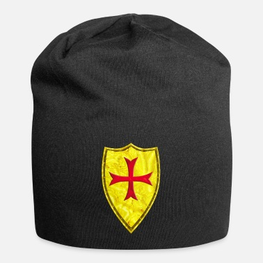 Crusader Shield Gold + Red Cross - Beanie