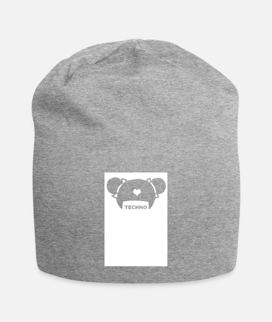 Bass Caps & Hats - FRISUR Electronica Underground Club Festival Style - Beanie heather grey