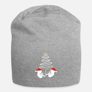 Friends Christmas Pregnancy Baby Twins Xmas Announcement - Beanie