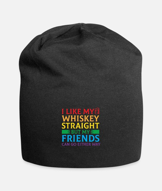 Marriage Equality Caps & Hats - LGBT Whiskey Rainbow Marriage Equality Pride - Beanie black