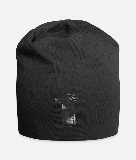 Domestic Cat Caps & Hats - Cat cage - Beanie black