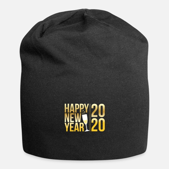 Fireworks Caps & Hats - Happy New Year 2020 Welcoming New Years Eve Gift - Beanie black