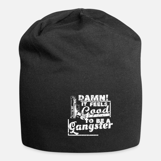 Rap Caps & Hats - Gangster saying - Beanie black