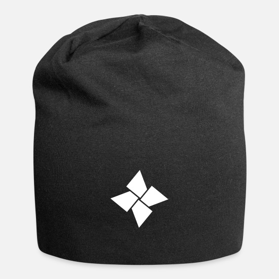 Gift Idea Caps & Hats - minimal geometric 109 - Beanie black