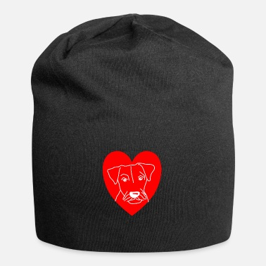Drawing dog shirt german hunting terrier heart dog gift - Beanie