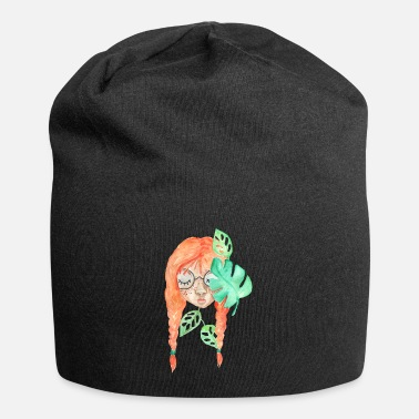 Hairstyle nature lover plant mom illustration saying - Beanie