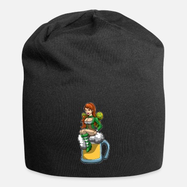 Death Irish Fairy Sits In A Beer Mug And Brings Luck - Beanie