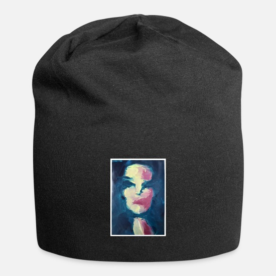 "Gift Idea Caps & Hats - Original Art Print ""Marina"" - Beanie black"