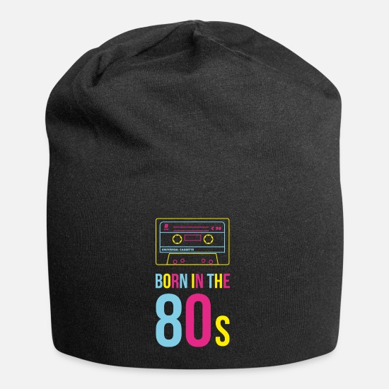 Eighties Caps & Hats - Born in the Eighties, cassette in bright colors - Beanie black