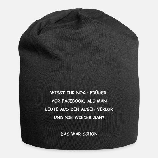 Die Zeit Vor Facebook Lustiger Spruch Beanie Spreadshirt
